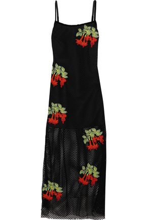 HOUSE OF HOLLAND Appliquéd mesh maxi dress