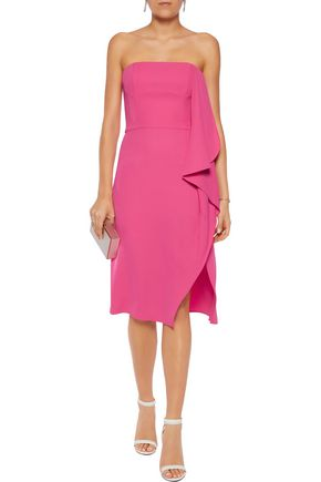 HALSTON HERITAGE Draped crepe dress