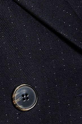 SANDRO Metallic pinstriped twill jacket