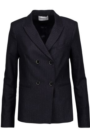 SANDRO Metallic pinstriped twill jacket