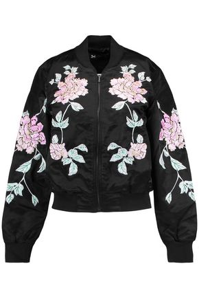 3x1 WJ cotton-blend satin bomber jacket