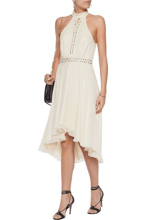 HAUTE HIPPIE The Free Spirit lace-up asymmetric silk-chiffon dress