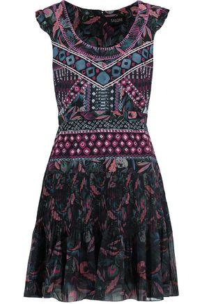 SALONI Elodie printed silk mini dress
