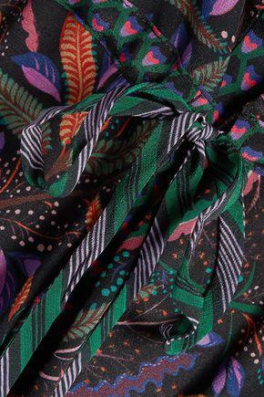 SALONI Leigh printed silk mini dress