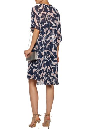 MIKAEL AGHAL Layered printed chiffon dress