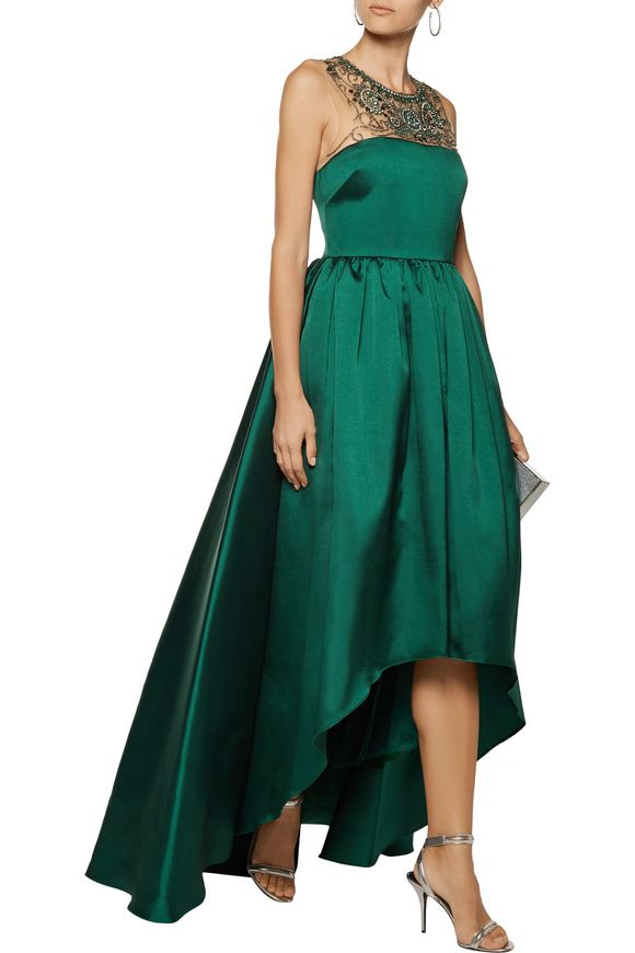 Embellished satin-twill gown   MIKAEL AGHAL   Sale up to 70% off   THE  OUTNET