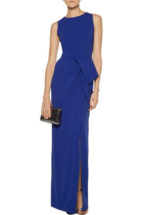 MIKAEL AGHAL Ruffled stretch-cady gown