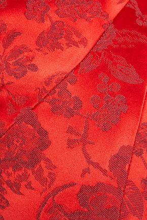 ZAC POSEN Fluted brocade gown