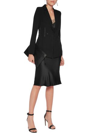 HAUTE HIPPIE We Will Meet Again lace-up crepe blazer
