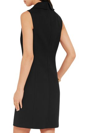 MICHAEL KORS COLLECTION Button-detailed cotton-crepe mini dress