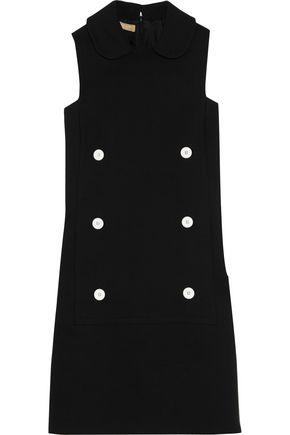 MICHAEL KORS COLLECTION Button-detailed cotton-crepe mini dress