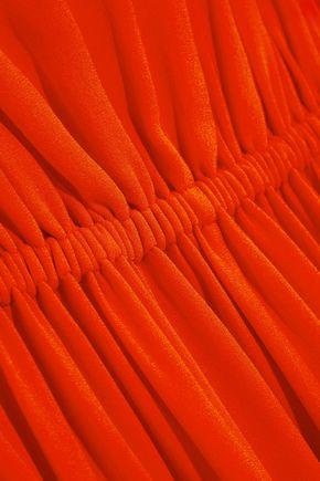 MICHAEL KORS COLLECTION Ruffled silk-crepe mini dress