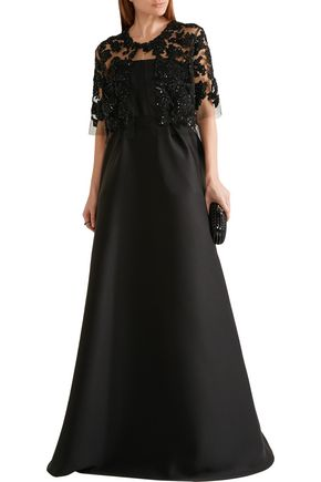 REEM ACRA  New York Embellished embroidered cotton-blend tulle jacket
