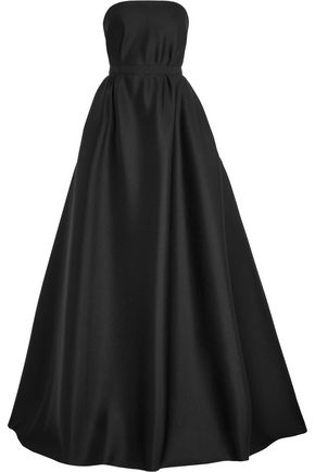 REEM ACRA  New York Strapless silk scuba-jersey gown