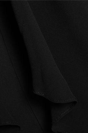 BADGLEY MISCHKA Strapless layered cady and chiffon dress