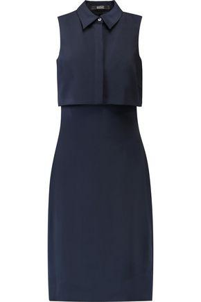 BADGLEY MISCHKA Layered cutout crepe dress