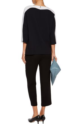 GOAT Dekker paneled wool-crepe top
