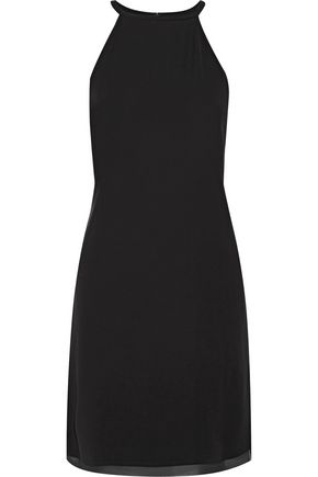 THEORY Yareta georgette-trimmed cady dress