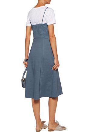 THEORY Linen-blend dress