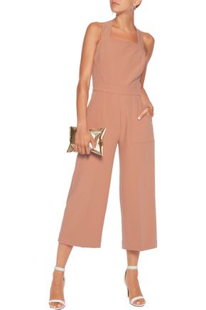 PERSEVERANCE Cropped crepe jumpsuit