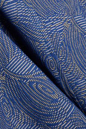 LELA ROSE Blair embellished cotton-blend jacquard dress
