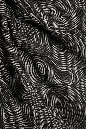 LELA ROSE Cotton-blend jacquard dress