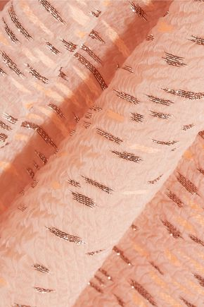 LELA ROSE Fil coupé organza dress