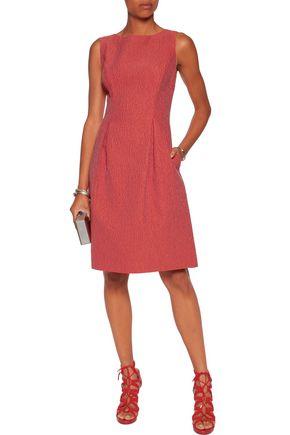 LELA ROSE Betsy wool-blend matelassé  mini dress