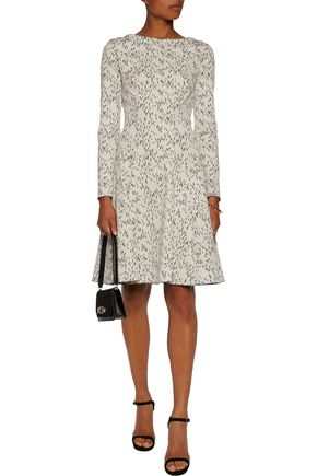 LELA ROSE Reversible printed cotton-blend mini dress