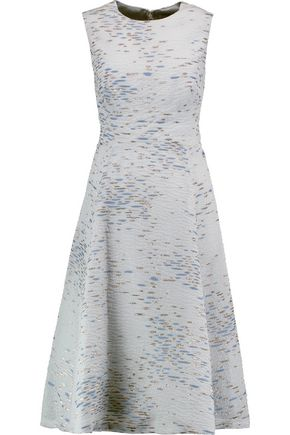 LELA ROSE Juliet metallic jacquard dress