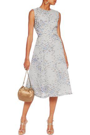 LELA ROSE Juliet metallic jacquard dress