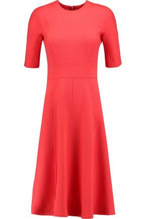 LELA ROSE Paneled wool-blend crepe dress