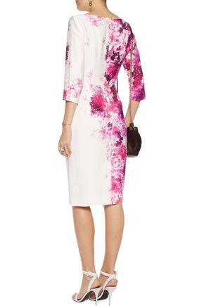 GOAT Venus floral-print crepe dress