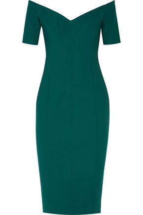 CINQ À SEPT Birch off-the-shoulder cady dress