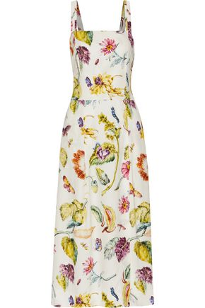 ADAM LIPPES Printed crepe midi dress