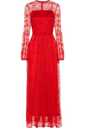 ADAM LIPPES Pleated lace gown
