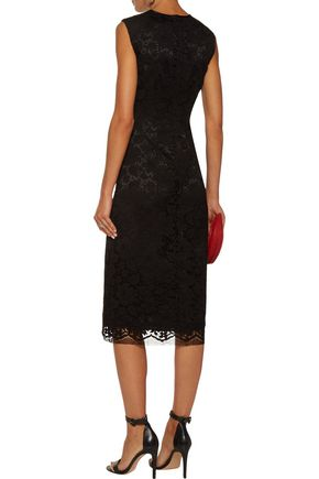 ADAM LIPPES Cotton-blend corded-lace midi dress