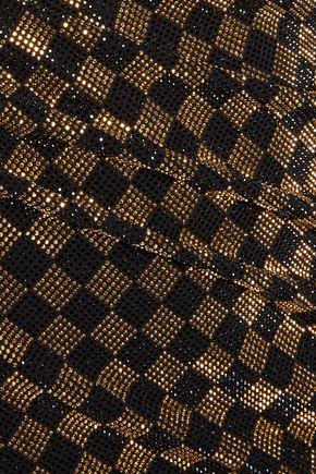 BALMAIN Crystal-embellished stretch-jersey mini dress