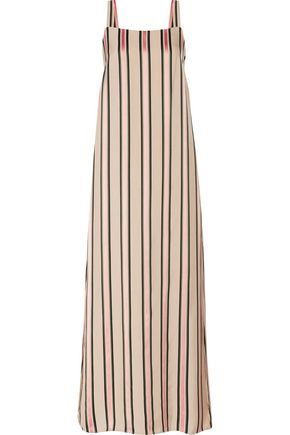 ADAM LIPPES Layered striped twill maxi dress