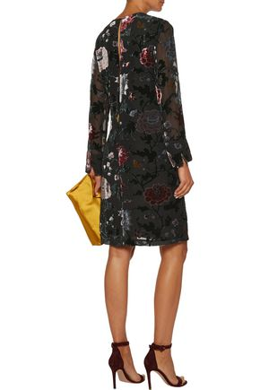 ADAM LIPPES Flocked organza dress