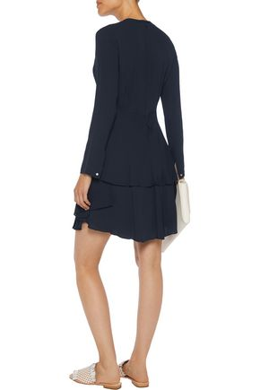 A.L.C. Vicky tiered silk-crepe mini dress