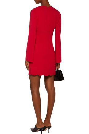 A.L.C. Eve cutout scalloped crepe mini dress