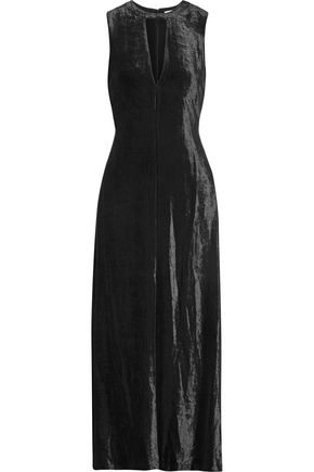 A.L.C. Anya cutout crushed-velvet midi dress