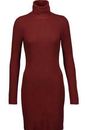 A.L.C. Norris ribbed merino wool-blend mini turtleneck dress