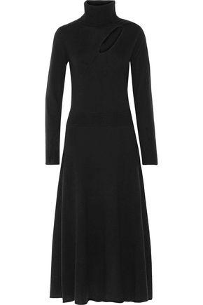 A.L.C. Alexander cutout wool and cashmere-blend turtleneck midi dress