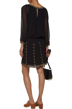 JOIE Berline embellished georgette mini dress