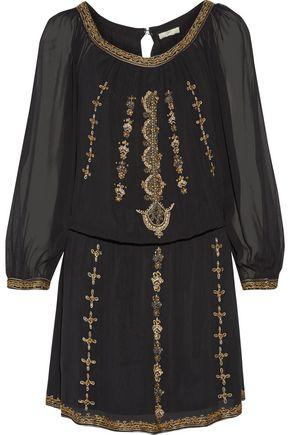 JOIE Berline embellished georgette mini dress
