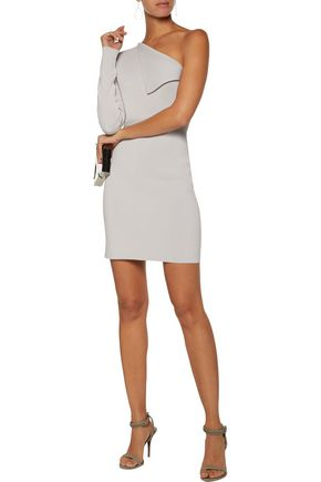 DION LEE Axis one-shoulder stretch-knit mini dress