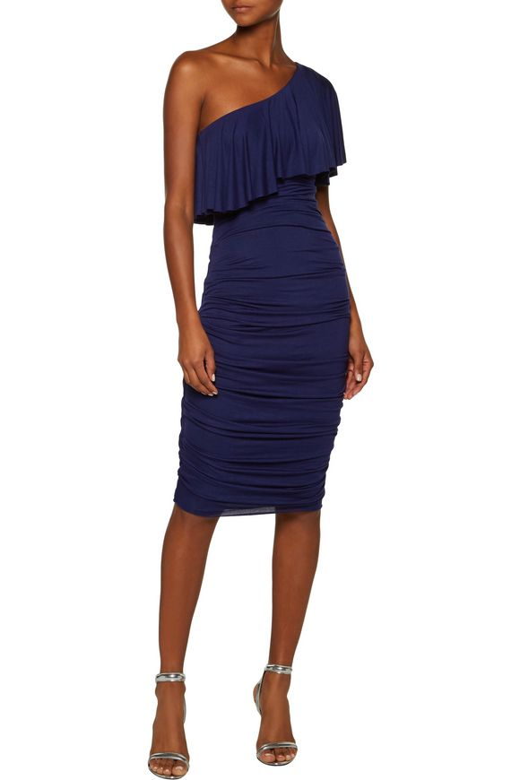 Roomba one-shoulder ruched stretch-jersey dress | BAILEY 44 | Sale up to 70%  off | THE OUTNET