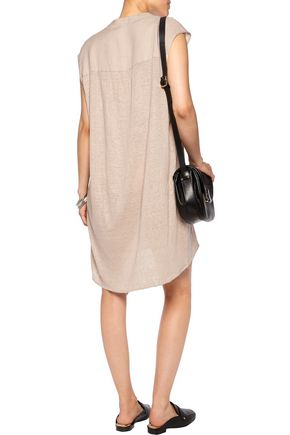 MAJESTIC Linen mini dress